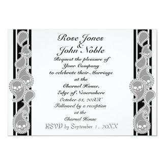Invitación (gris) anversa del boda