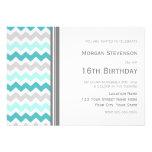 Invitación gris de la fiesta de cumpleaños de Chev