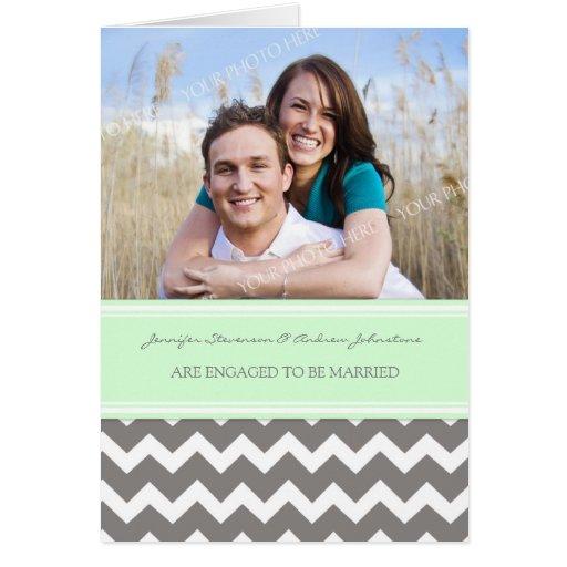 Invitación gris de la foto del compromiso de los tarjeta de felicitación