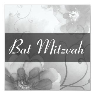 Invitación gris de Mitzvah del palo del remolino Invitación 13,3 Cm X 13,3cm