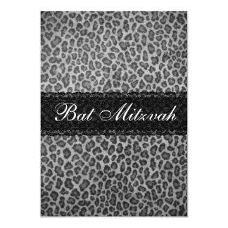 Invitación gris de moda de Mitzvah del palo del Invitación 12,7 X 17,8 Cm