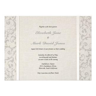 Invitación gris del boda de SmartElegance