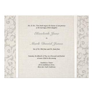 Invitación gris del boda de SmartElegance p