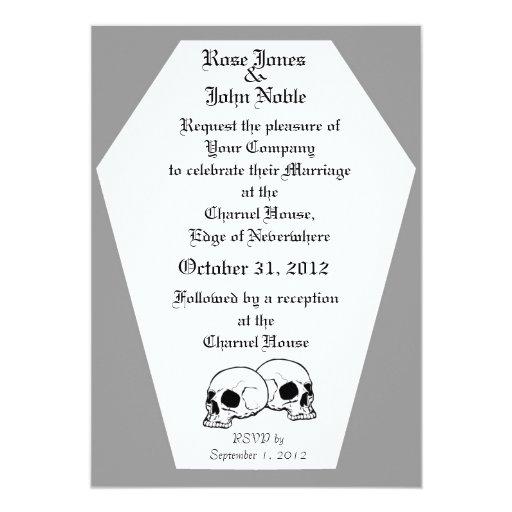 Invitación (gris) del boda del ataúd