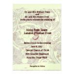 Invitación gris del boda del pergamino lamentable