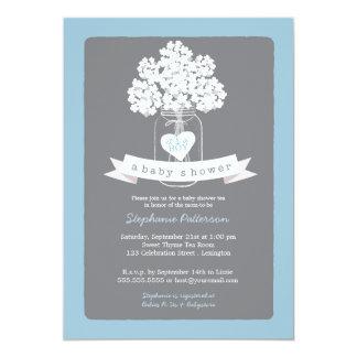 Invitación gris dulce de la fiesta de bienvenida