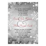 Invitación gris hivernal del boda