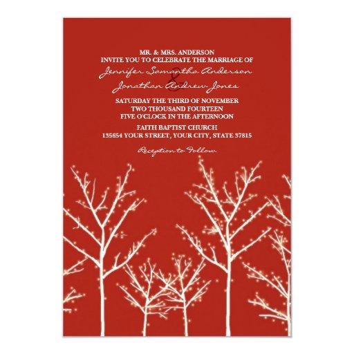 Invitación gris y blanca del boda del árbol del