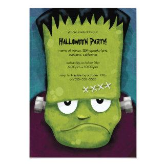 Invitación gruñona del fiesta de Frankenstein