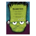 Invitación gruñona del fiesta de Frankenstein Hall