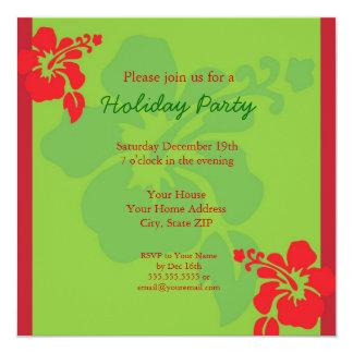 Invitación hawaiana de la celebración de días