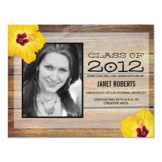 Invitación hawaiana de la graduación de la foto