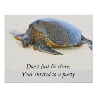 Invitación hawaiana de la tortuga