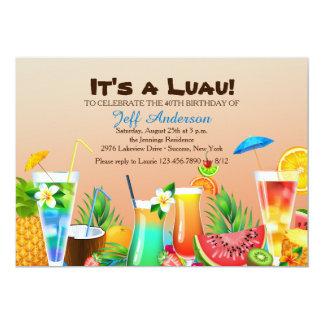 Invitación hawaiana de Luau