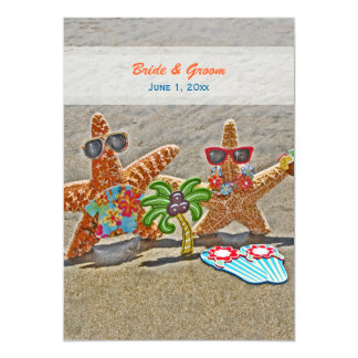Invitación hawaiana del boda de los pares de las