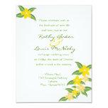 Invitación hawaiana del boda del Plumeria - 4,25 x Invitación 10,8 X 13,9 Cm