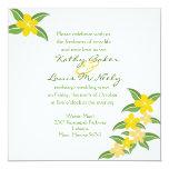 Invitación hawaiana del boda del Plumeria - 5,25 x Invitación 13,3 Cm X 13,3cm
