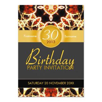 Invitación hawaiana del cumpleaños de la