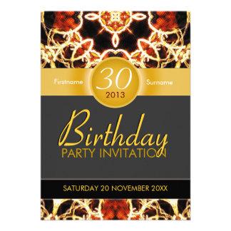 Invitación hawaiana del cumpleaños de la celebraci