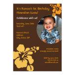 Invitación hawaiana del cumpleaños de la foto de invitación 12,7 x 17,8 cm