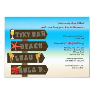 Invitación hawaiana del fiesta