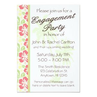 Invitación hawaiana del fiesta de compromiso de invitación 12,7 x 17,8 cm