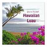 Invitación hawaiana del fiesta de Luau Invitación 13,3 Cm X 13,3cm
