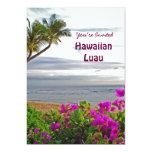Invitación hawaiana del fiesta de Luau Invitación 12,7 X 17,8 Cm
