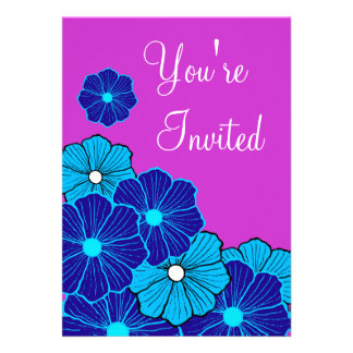 Invitación hawaiana retra