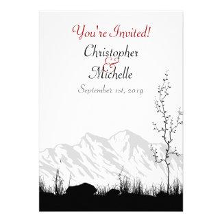 Invitación hermosa del boda de la montaña de la si