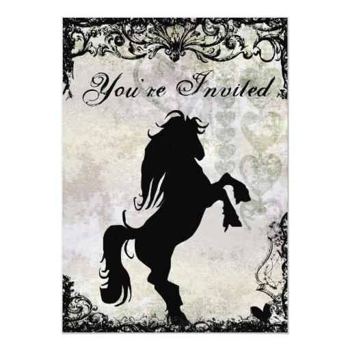 Invitación hermosa del cumpleaños del caballo de