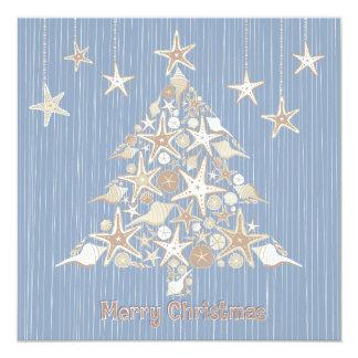 Invitación hermosa del fiesta del árbol de navidad
