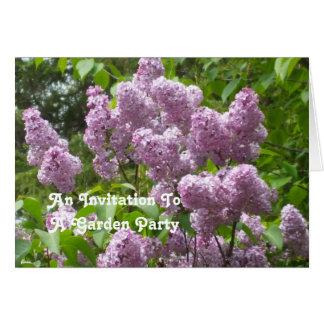 Invitación hermosa del jardín de las lilas tarjeta pequeña