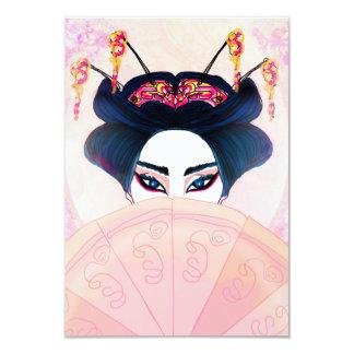 Invitación hermosa del retrato del geisha