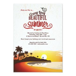 Invitación hermosa del verano