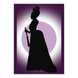 Invitación histórica del vestido del día