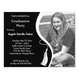 Invitación horizontal de la foto de la graduación