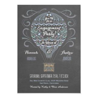 Invitación I del fiesta de compromiso del globo