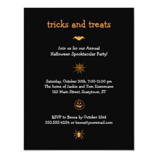 Invitación icónica del fiesta de Halloween