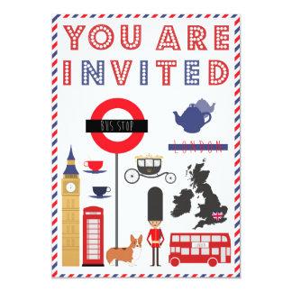 Invitación icónica del viaje de Custon Londres
