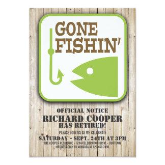Invitación ida del fiesta de retiro de Fishin