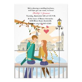 Invitación ideal de la luna de miel del par joven