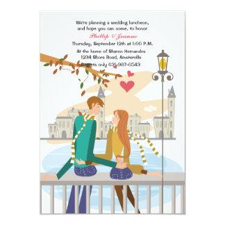 Invitación ideal de la luna de miel del par joven invitación 12,7 x 17,8 cm