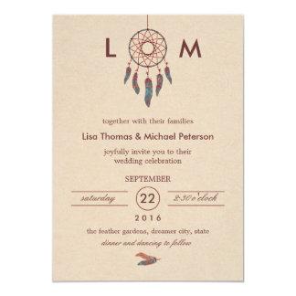 Invitación ideal del boda del colector invitación 12,7 x 17,8 cm