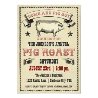 Invitación II de la carne asada del cerdo del Invitación 12,7 X 17,8 Cm