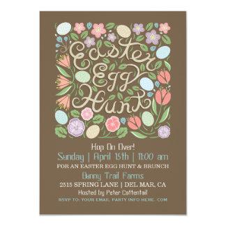Invitación II de la caza del huevo de Pascua del