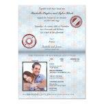 Invitación II del boda del pasaporte de Francia