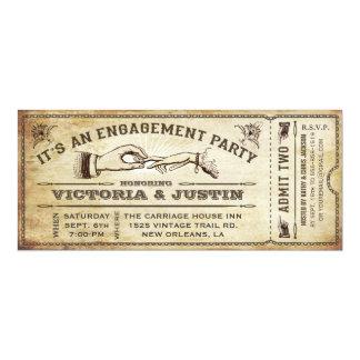 Invitación III del billete de grupo de compromiso