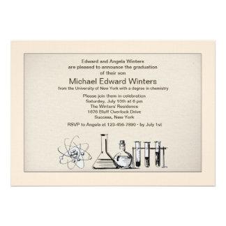 Invitación importante de la graduación de la quími