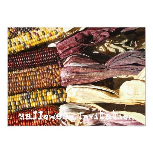 Invitación india del maíz en la mazorca